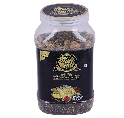 royal black pearl assam masala chai spices herbes - 500 gm