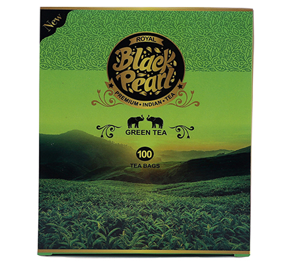 royal black pearl (heritage blend) assam 250 gm green tea bags 100 tea bags