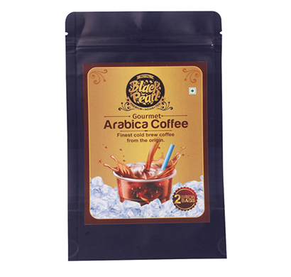 royal black pearl gourmet arabica coffee 2 brew bag cold coffee 50 gm
