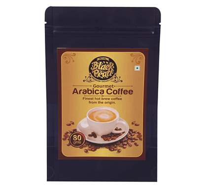 royal black pearl gourmet arabica coffee hot brew roast & ground 80 g coffee