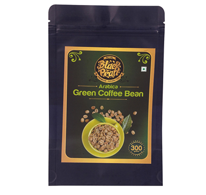 royal black pearl 100% pure & natural arabica green beans for weight management instant 300 g coffee