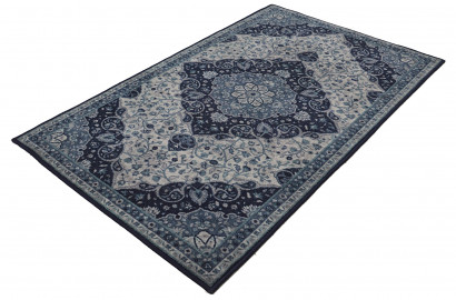 rugsmith (rs000177) blue multi color premium qualty classical pattern polyamide nylon modern persian rug area rug