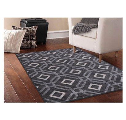 rugsmith (rs000233) grey multi color premium qualty classical pattern polyamide nylon manali rug area rug