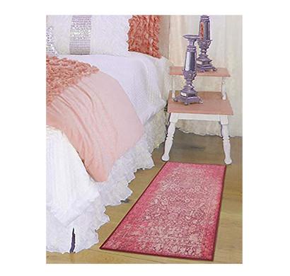 rugsmith (rs000001) rug & carpet pink color premium qualty distressed pattern polyamide nylon antibes rug runner