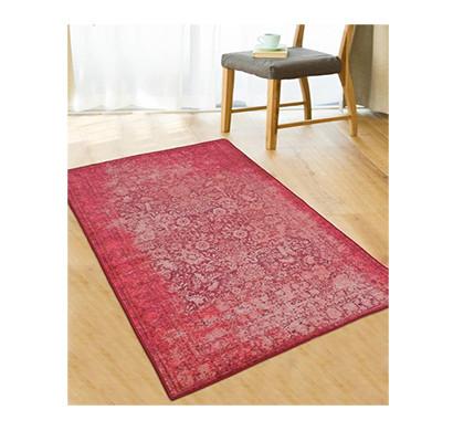 rugsmith (rs000003) rug & carpet pink color premium qualty distressed pattern polyamide nylon antibes rug area rug
