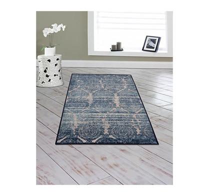 rugsmith (rs000005) rug & carpet blue color premium qualty floral pattern polyamide nylon babylon rug area rug