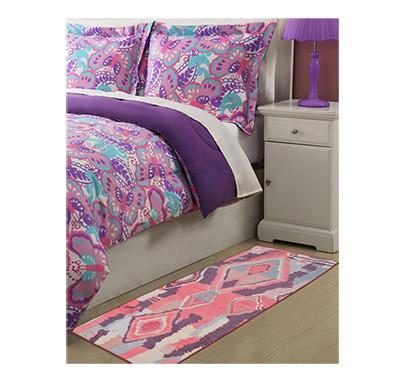 rugsmith (rs000016) rug & carpet rust & pink color premium qualty moroccan pattern polyamide nylon casablanca rug runner