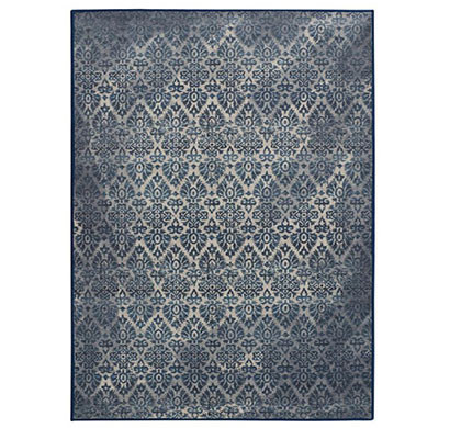 rugsmith (rs000225) light blue color premium qualty classical pattern polyamide nylon damask rug area rug