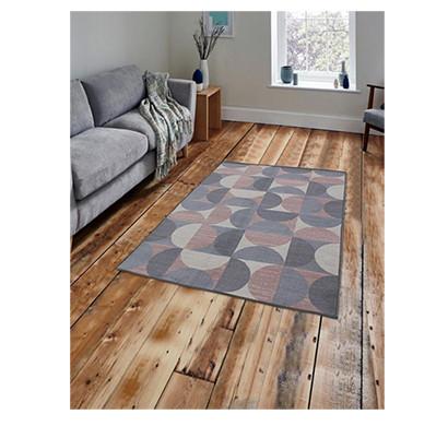 rugsmith (rs000029) rug & carpet rosette color premium qualty geometrical pattern polyamide nylon crescent moon rug area rug