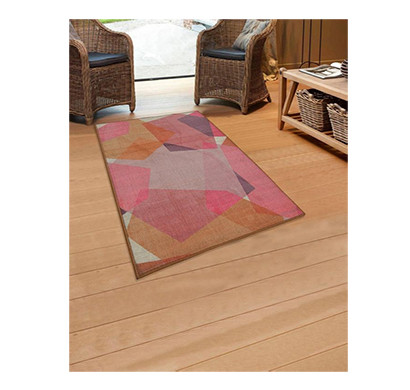 rugsmith (rs000020) rug & carpet pink multi color premium qualty abstract pattern polyamide nylon chroma rug area rug