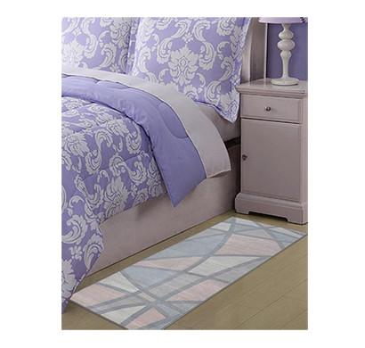 rugsmith (rs000022) rug & carpet grey & pink color premium qualty geometrical pattern polyamide nylon color map rug runner