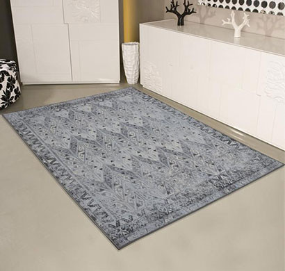 rugsmith (rs000140) grey multi color premium qualty distressed pattern polyamide nylon prime rug area rug