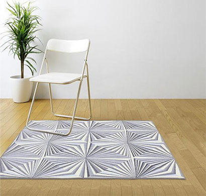 rugsmith (rs000146) grey color premium qualty modern pattern polyamide nylon illusion rug area rug