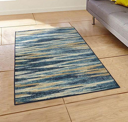 rugsmith (rs000161) teal multi color premium qualty modern pattern polyamide nylon slash ikat rug area rug