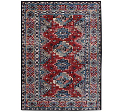 rugsmith (rs000179) cayenne multi color premium qualty classical pattern polyamide nylon orissa rug area rug