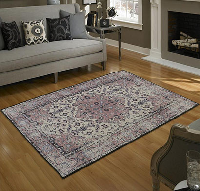 rugsmith (rs000186) pinkrosette color premium qualty classical pattern polyamide nylon anatolia rug area rug