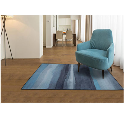 rugsmith (rs000101) rugs & carpets blue multi color premium qualty abstract pattern polyamide nylon canvas rug area rug