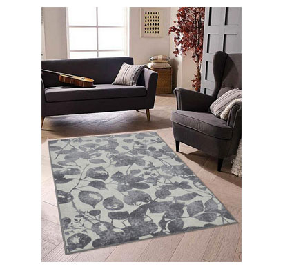 rugsmith (rs000150) rugs & carpets graphite grey color premium qualty floral pattern polyamide nylon samba rug area rug