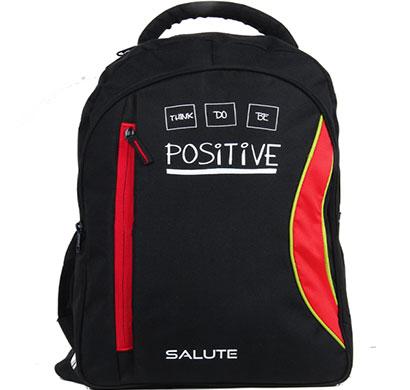 salute - capacity (red-black) school bag