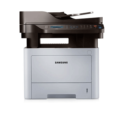 samsung sl-m3870fd multi-function monochrome all in one printer (white)
