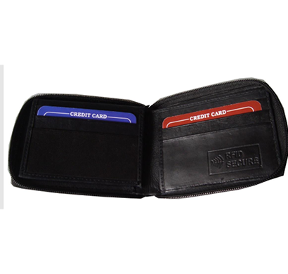 saw - 1032, bi-fold wallet leather, black