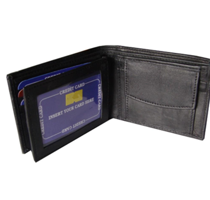 saw -1008, bi-fold wallet leather, black
