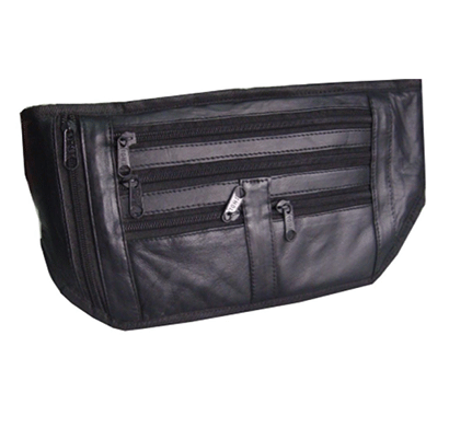 saw 014 leather money pouch black