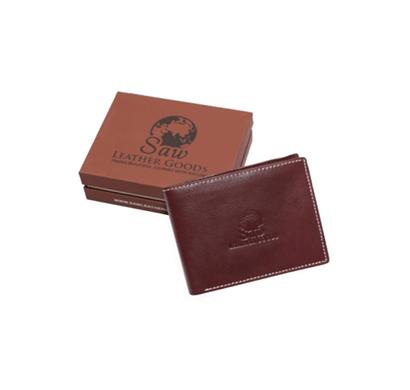 saw 014 leather wallet brown