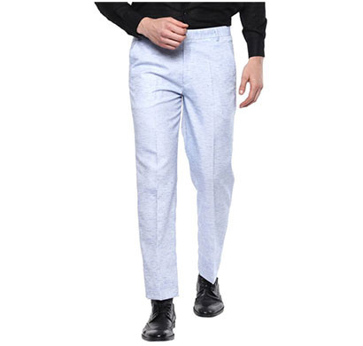 shaurya-f regular fit men linen trousers/ size 34/ grey