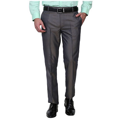shaurya-f slim fit men trousers (grey)