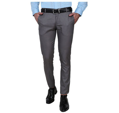 shaurya-f slim fit men trousers (fawn grey)