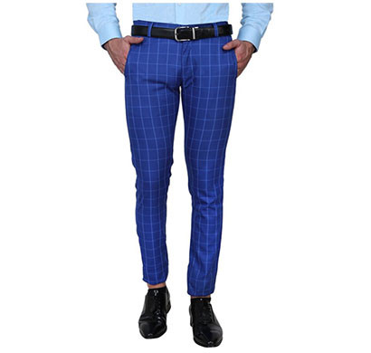 shaurya-f slim fit men trousers (blue)