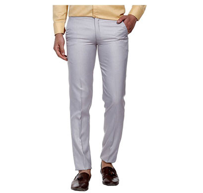 shaurya-f slim fit men trousers (light grey)