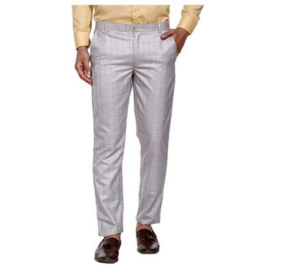 shaurya-f men slim fit trousers (grey)