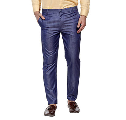shaurya-f slim fit men's trousers (dark blue)
