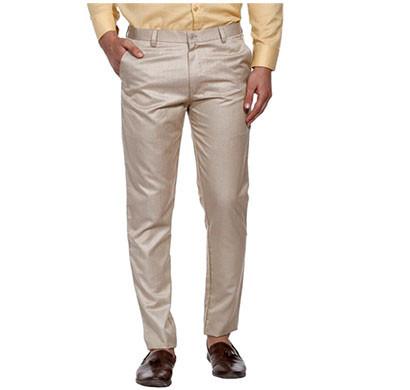 shaurya-f slim men fit trousers (beige)