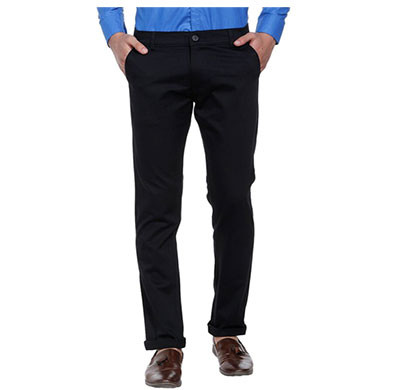 shaurya-f slim fit men trousers (black)