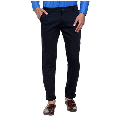 shaurya-f slim men fit trousers (blue)