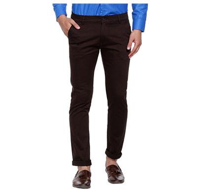 shaurya-f slim men fit trousers (brown)