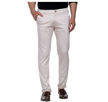shaurya-f slim men fit casual trousers (beige)