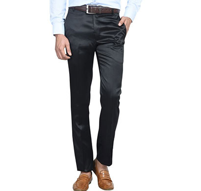 shaurya-f tr-30 regular fit men's black trousers