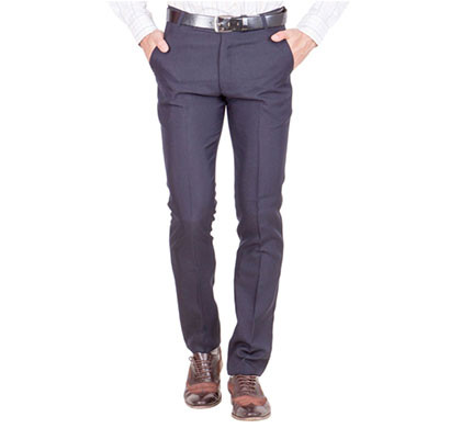 shaurya-f tr-23 regular fit men's blue trousers