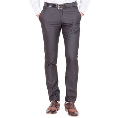 shaurya-f tr-19 regular fit men's black trousers