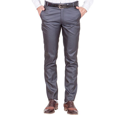 shaurya-f tr-18 regular fit men's grey trousers
