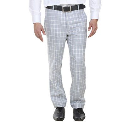 shaurya-f tr-9 regular fit men's light blue trousers