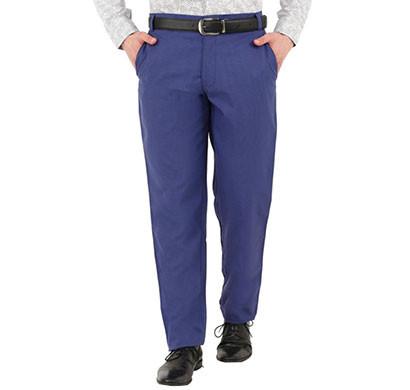 shaurya-f tr-257 slim fit men linen blue trouser