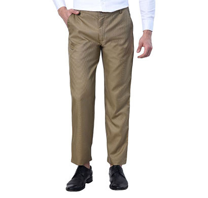 shaurya-f tr-256 slim fit men linen beige trousers