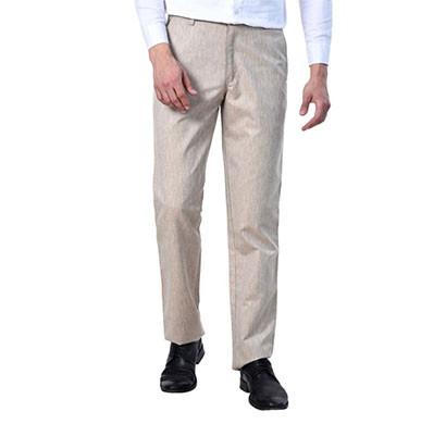 shaurya-f tr-254 slim fit men linen beige trousers
