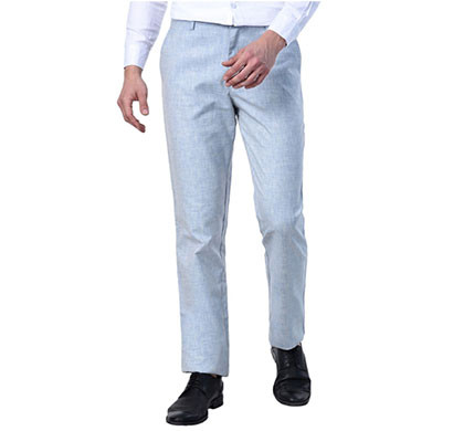 shaurya-f tr-253 slim fit men linen light blue trousers