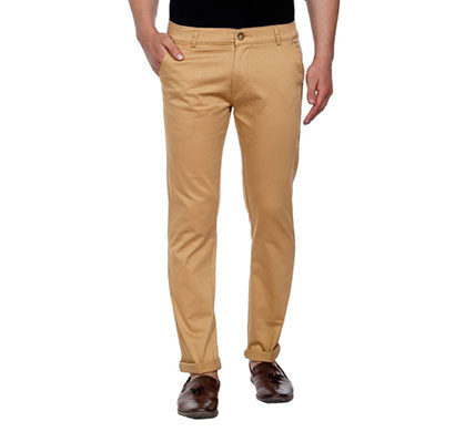 shaurya-f tr-225 slim fit men beige trousers